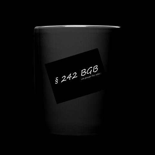 242 Treu und Glauben - Tasse einfarbig