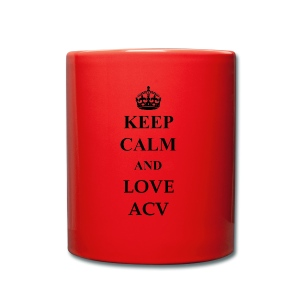 Keep Calm and Love ACV - Tasse einfarbig