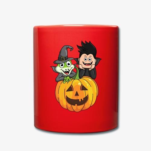 Tomu och Ödlan Halloween - Enfärgad mugg