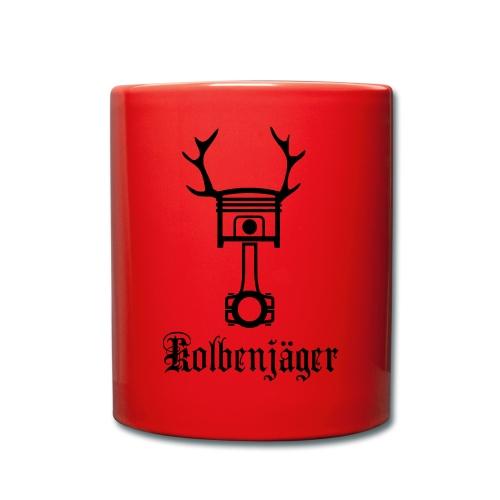 Kolbenjäger Logo+Schrift - Tasse einfarbig