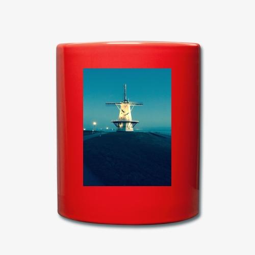 Windmühle an der Küste - Tasse einfarbig
