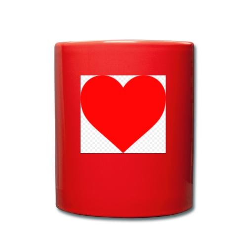 Hjärta - Enfärgad mugg