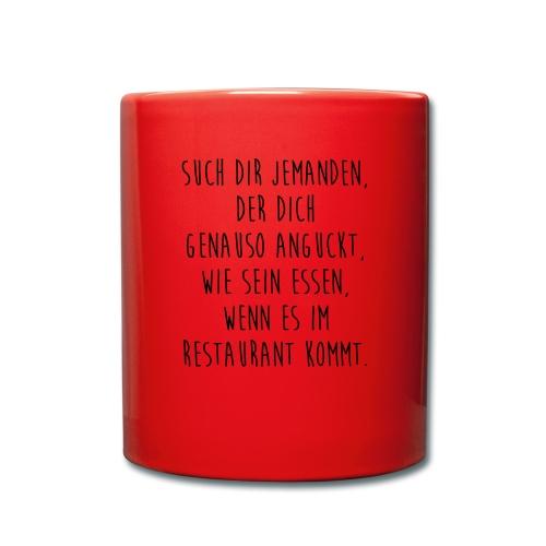 Restaurantgänger - Tasse einfarbig