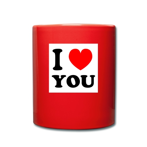 Sweater met i love you - Mok uni