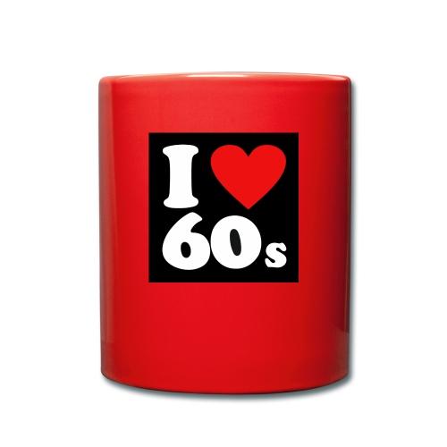 60 store - Ensfarvet krus