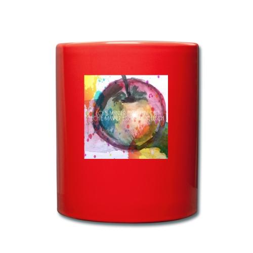 Apfel mit Aufschrift - Tasse einfarbig