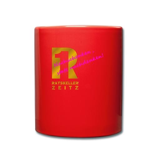 Nachschenken Spruch - Tasse einfarbig