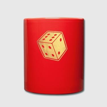 gold würfel - Tasse einfarbig