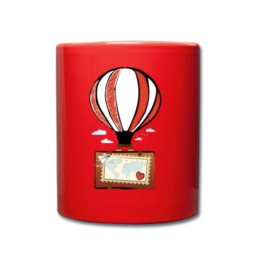 CUORE VIAGGIATORE Gadget per chi ama viaggiare - Tazza monocolore