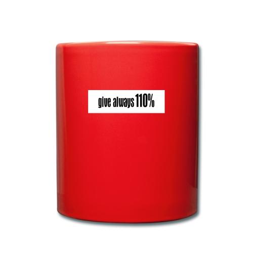 110% - Tasse einfarbig
