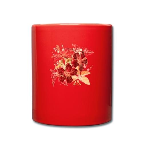 Blumen - Tasse einfarbig