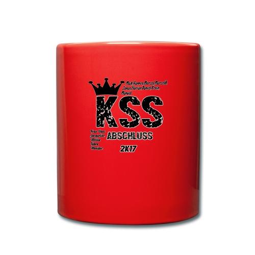 Abschluss 2017 KSS, Kleidung + Name! - Tasse einfarbig
