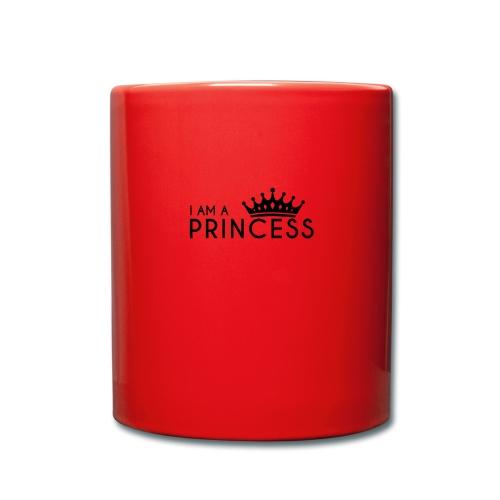 I AM A PRINCESS + KRONE - Tasse einfarbig