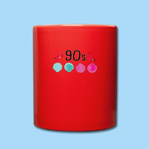 Leckmuschel 90er Jahre Muschel 90s - Tasse einfarbig
