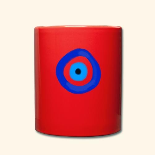 Blue evil eye Water Colour - Enfärgad mugg