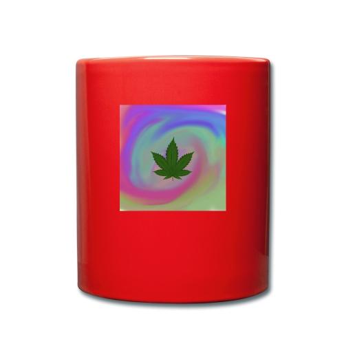 Hanfblatt auf bunten Hintergrund - Tasse einfarbig