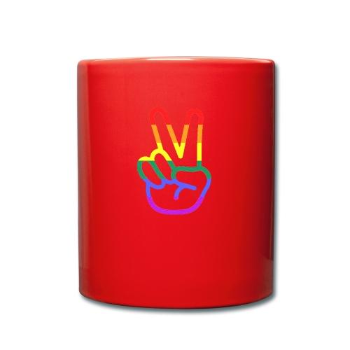 Peace Hand - Tasse einfarbig