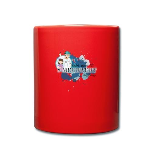 Mehrwert mit Richtig Schwanger - Tasse einfarbig