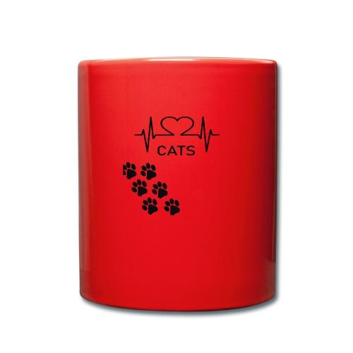 Design für Katzenbesitzer. - Tasse einfarbig