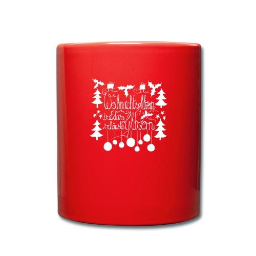 Weihnachtsglitzern - Tasse einfarbig