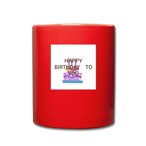 happy birthday 1 - Full Colour Mug