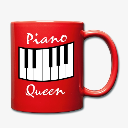 piano queen design white - Tasse einfarbig