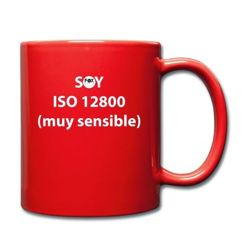 SOY ISO 12800 MUY SENSIBLE con logo - Taza de un color