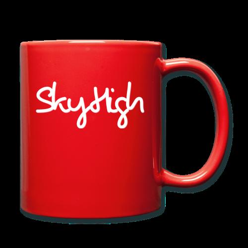SkyHigh - Men's Premium T-Shirt - White Lettering - Full Colour Mug