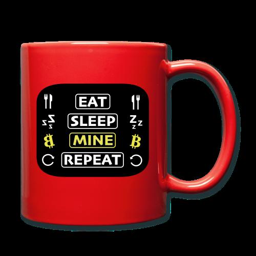 EAT SLEEP MINE REPEAT - Tasse einfarbig