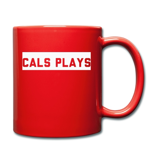 Cals Plays Text White - Full Colour Mug