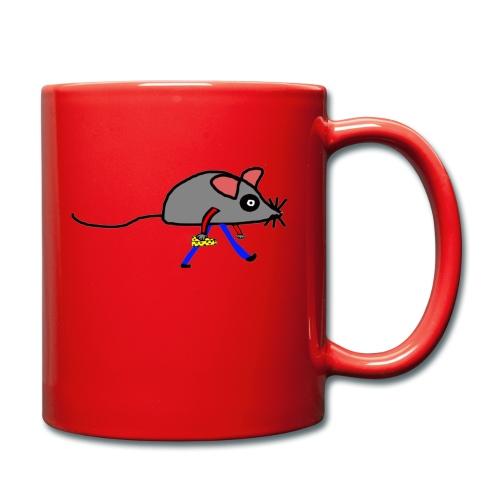 Maus mit Käse Lustiges Motiv - Tasse einfarbig