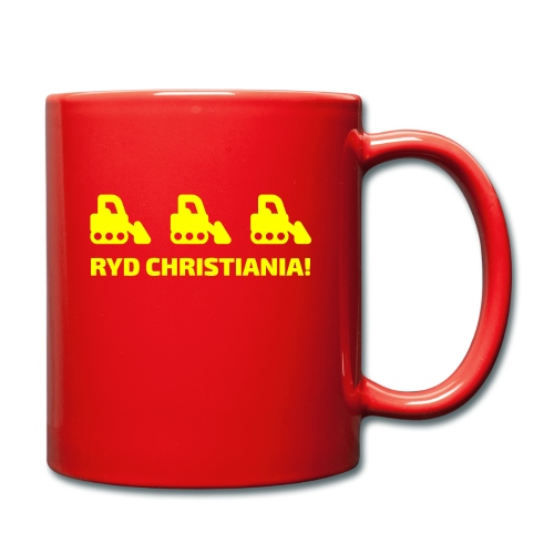 Ryd Christiania - Ensfarvet krus
