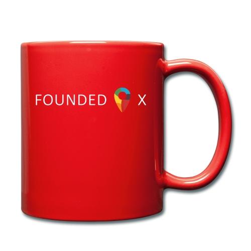 FoundedX logo white png - Full Colour Mug