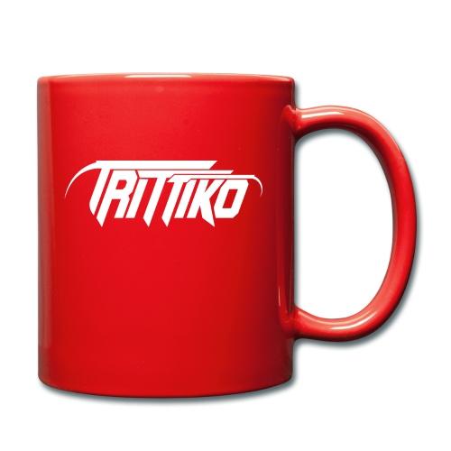Trittiko Logo Weiss - Tasse einfarbig