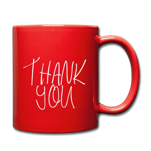 THANK YOU - Tasse einfarbig