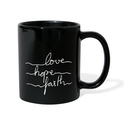 LoveHopeFaith Typo - Tasse einfarbig
