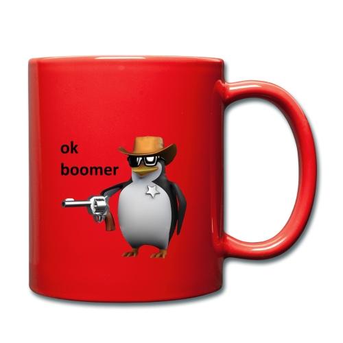 Ok Boomer Penguin Sheriff - Full Colour Mug