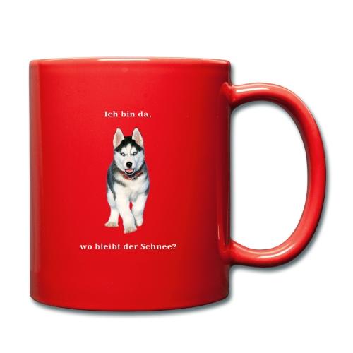Husky Welpen mit bezaubernden Augen - Tasse einfarbig