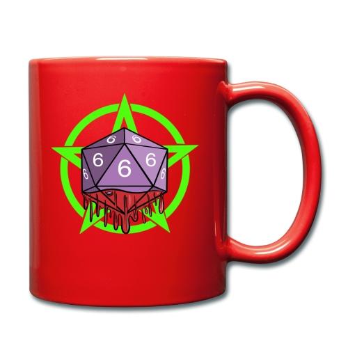 Würfel RPG Spiel Rollenspiele 666 mit Pentagramm - Tasse einfarbig