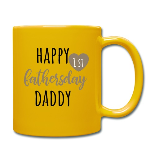 Happy first fathersday - Tasse einfarbig
