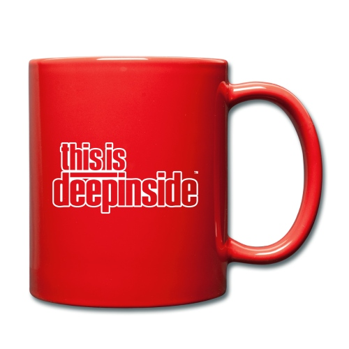 This is DEEPINSIDE logo white - Full Colour Mug