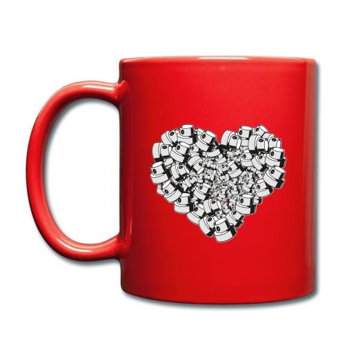 heart for art street love - Ensfarvet krus