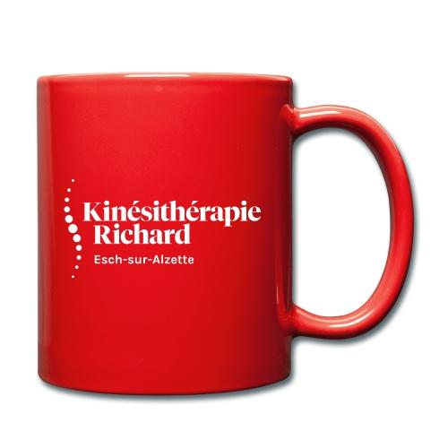 Logo Kiné Richard, Vorne-Hinten, White - Tasse einfarbig