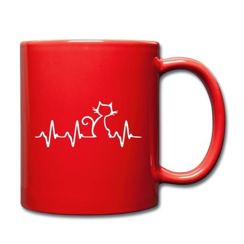 Vorschau: Cat Heartbeat - Tasse einfarbig