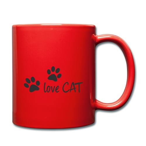 LOVE CAT - Tasse einfarbig