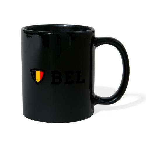 BEL Belgium Blason tricolore Football - Mug uni