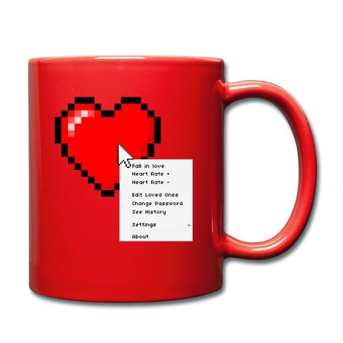 Options of the heart on a mug - Ensfarvet krus