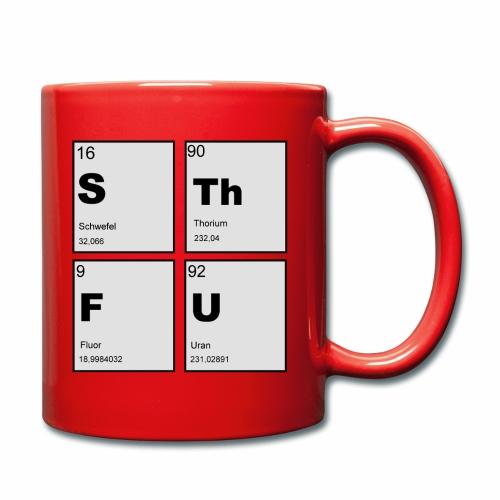 STFU Quadratisch - Tasse einfarbig
