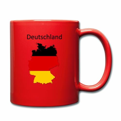 Deutschland Karte - Tasse einfarbig