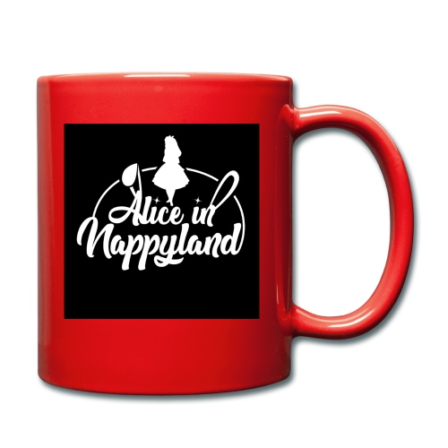 Alice in Nappyland TypographyWhite 1080 - Full Colour Mug